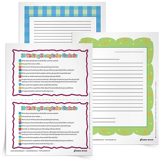 Summer Learning Activities - Summer Letter Prompts Printable