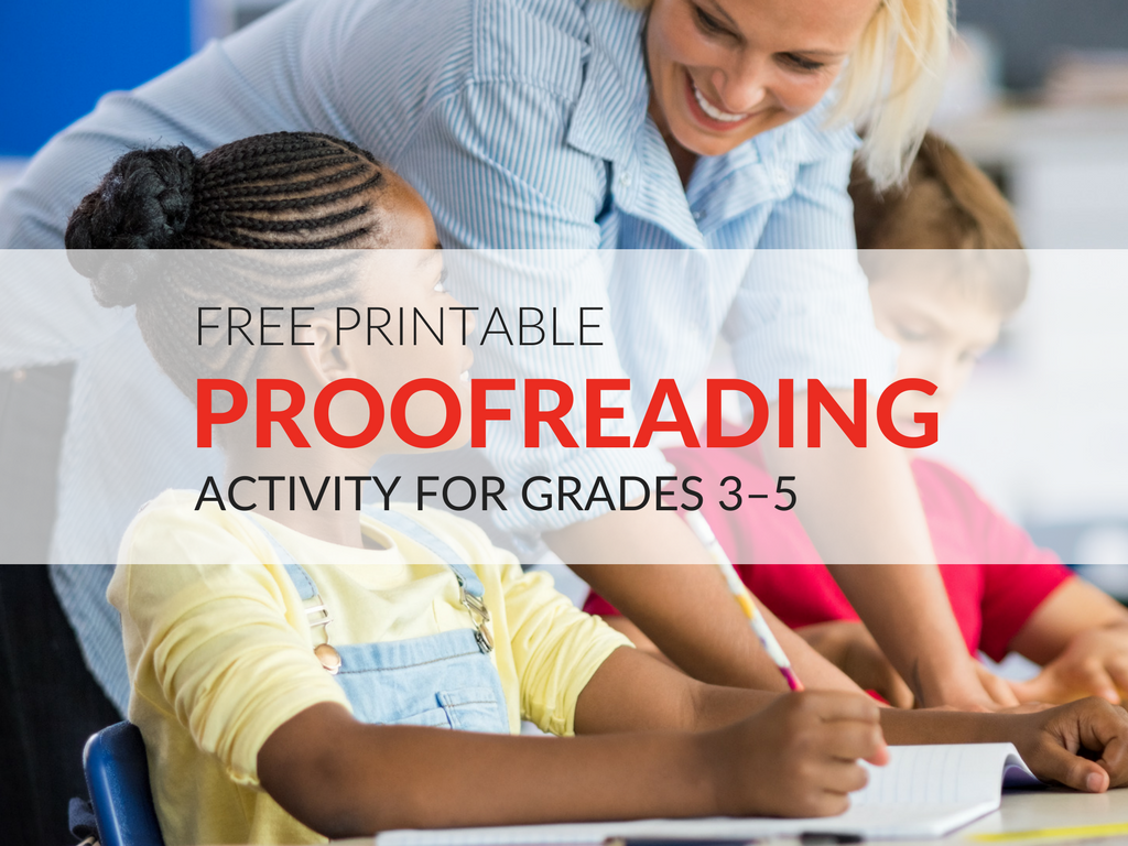 Proofreading is a skill that must be practiced. As students' progress through their schooling, this skill must be honed year after year. Download a simple Proofreading Activity students can use in centers or when there is extra time in class! printable-proofreading-activity-for-elementary-students
