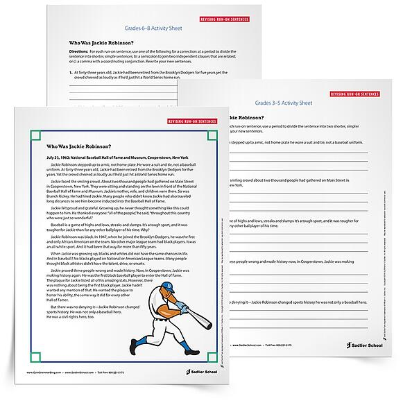 29 Printable Grammar Worksheets That Will Improve Students Writing – Run on Sentences Worksheet
