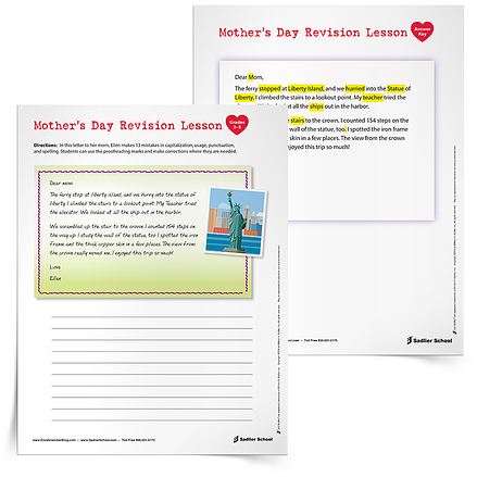 Grammar Spring Activity Sheets Students Can Use This Spring at Home - Mother's Day Revision Lesson