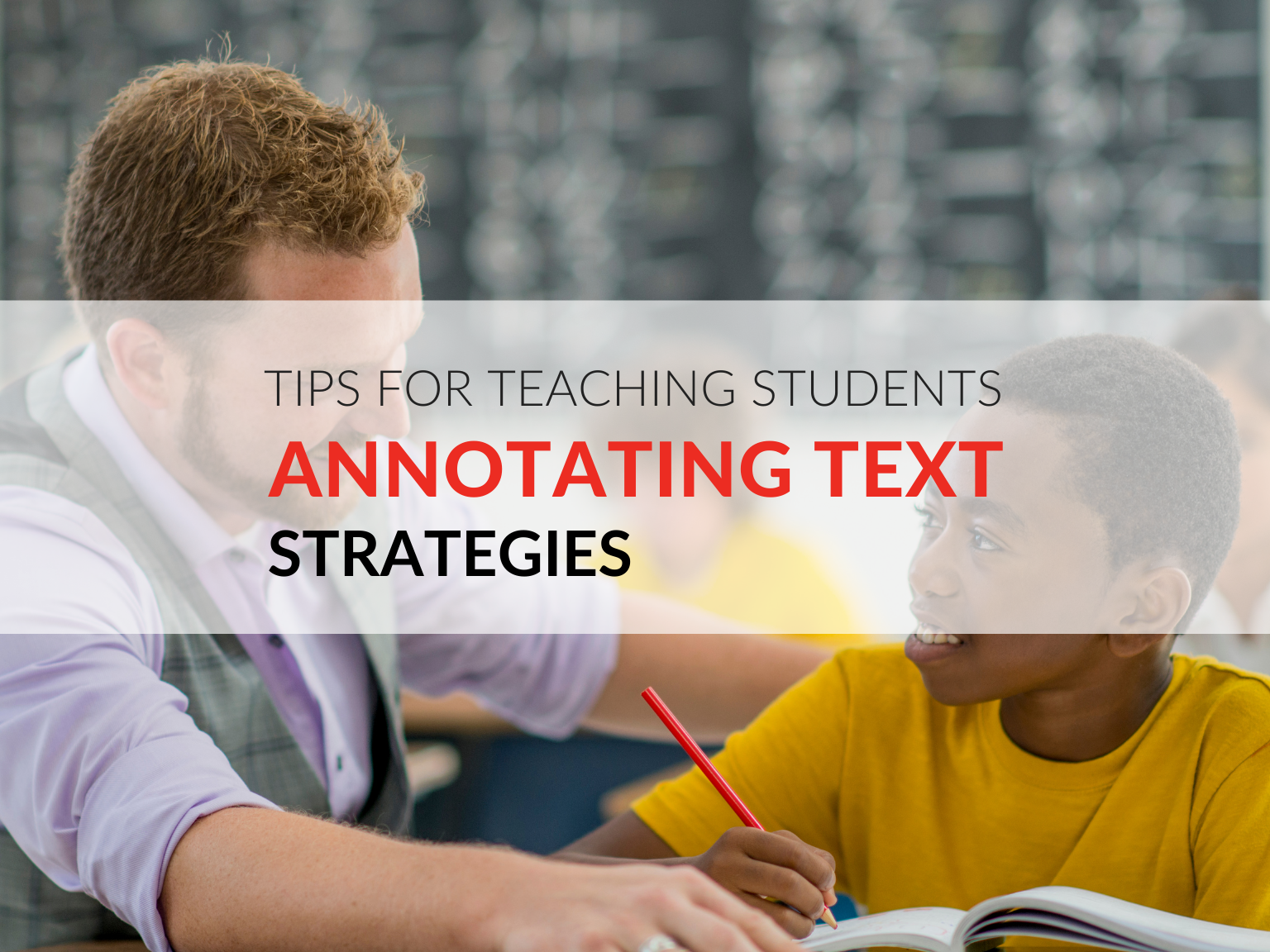 One of the most important skills I teach my students as we begin to work on close reading is how to annotate texts. Teaching annotation strategies will help students keep track of key ideas