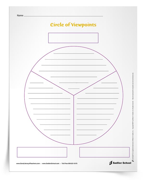 Literacy-inspired Circle of Viewpoints templates educators can download for free.