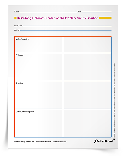 With the Describe Characters in a Story Graphic Organizers students will practice character description and analysis.