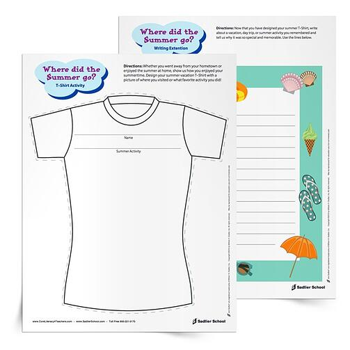 Fun Classroom Icebreakers for Elementary - Where Did the Summer Go? printable worksheet