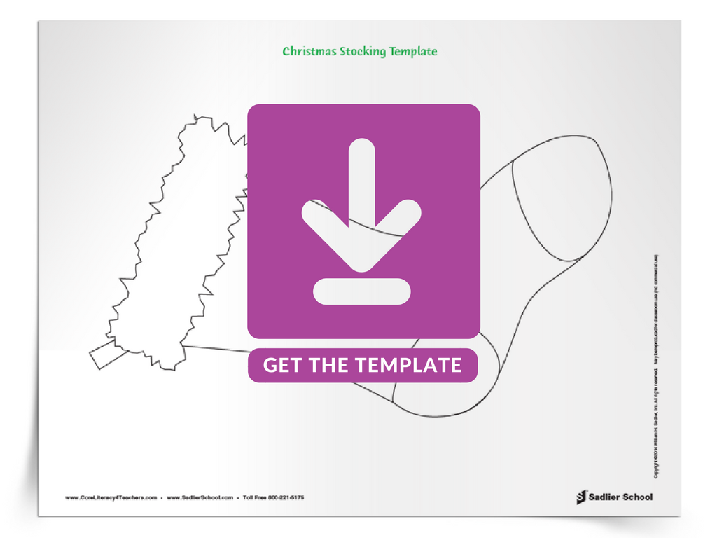 """To finish the St Nicholas Day mini-unit of the """"Winter Holidays Around the World"""" lesson plan, have students create a stocking craft! Download the template."""