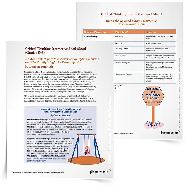 Interactive Read Aloud Lesson Plan Template Separate Is Never Equal