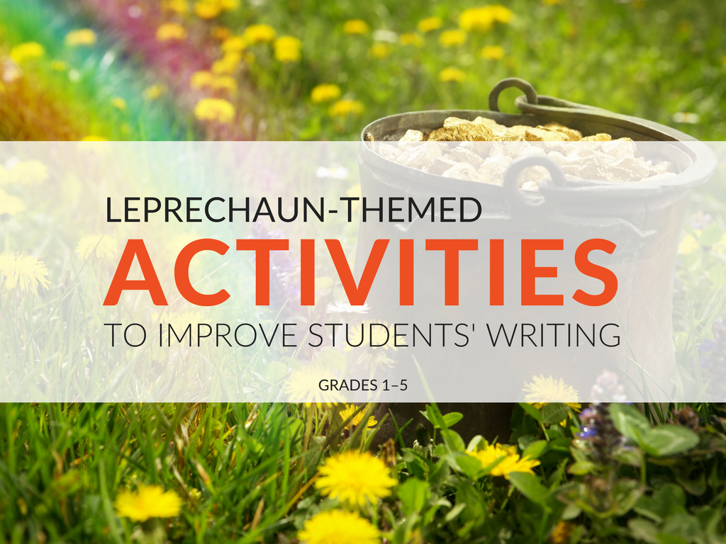 Over the years I have created and acquired many St. Patrick's Day lessons and activities. Today I am sharing some of my favorite leprechaun activities that my students' use to work on their writing skills. All of these ideas can be modified to use at almost any elementary grade level. These leprechaun activities (and printables) can be adapted for grades 1–5. leprechaun-activities-free-printable-st-patrick-worksheets.png