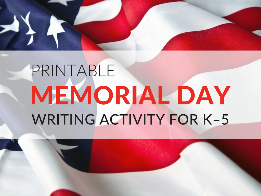 My mini Memorial Day lesson is simple and yet always makes an impact! The Memorial Day Worksheets available for download are interchangeable and can be used with most American holidays.