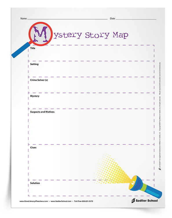 The Mystery Story Map graphic organizer is a great activity for students that get hooked on a crime-solving or mystery series. With this graphic organizer students will identify crime solvers, suspects and motives, clues, and solution!
