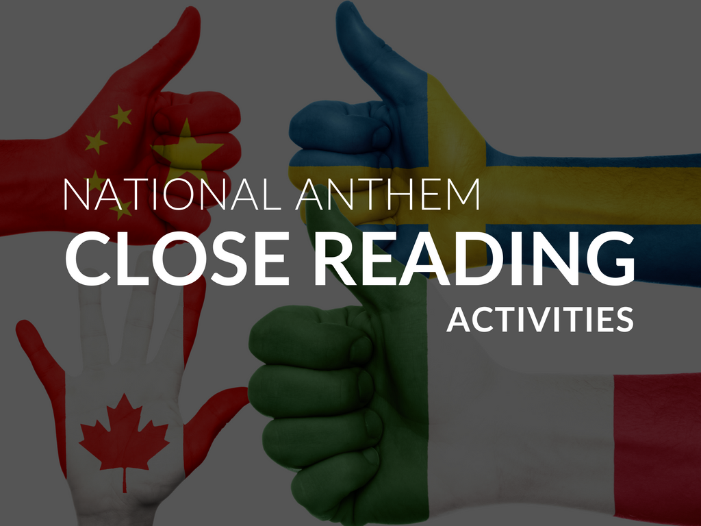 Learn how to use national anthems to engage students in a variety of close reading activities! Close reading of national anthems is a purposeful and meaningful way to build on background knowledge and strengthen your students' ability to analyze a text. Listening to and reading the national anthems of various countries participating in the 2018 Winter Olympics will definitely engage your students and improve their ability to read a text closely.