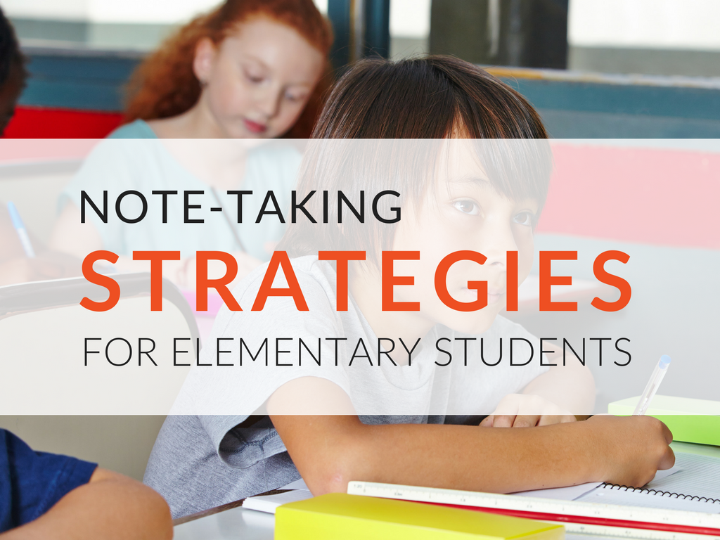 Note-taking strategies for elementary students! Teaching students how to take notes is extremely important, and it needs to be taught across all grades. Most students do not know how to take appropriate notes unless they are explicitly taught note-taking strategies. Understanding what to take notes on and how to record those notes is a necessary skill that students will use throughout their entire educational career.  note-taking-strategies-for-elementary-students-note-taking-activities.png