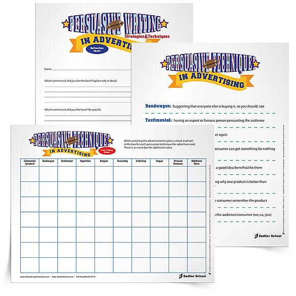"""One Super Bowl lesson plan that has always been a winner is a lesson on """"Persuasive Writing Techniques in Advertising."""" I created this Super Bowl lesson plan for grade 5 students, but you can adapt it for other grade levels!  persuasive-writing-lesson-super-bowl-advertising-750px"""
