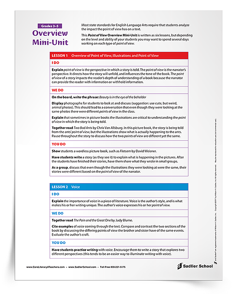 Most state standards for English Language Arts require that students analyze the impact the point of view has on a text. Download a Point of View Overview Mini Unit that will assist you in exploring each type of point of view in your classroom!