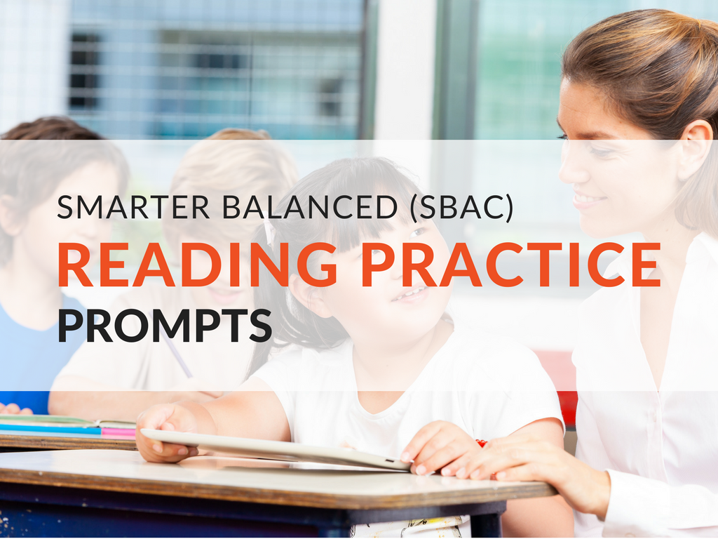 My research inspired me to create SBAC Reading Practice Prompts for students grades 3–5. I have compiled a list of reading practice prompts for fiction, nonfiction, and poetry texts for each of the individual grade levels. These SBAC reading practice prompts can be used during readers workshop or your English Language Arts block. smarter-balanced-assessment-sbac-practice-tests-reading-practice-prompts.png