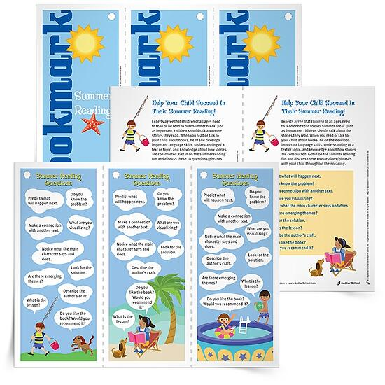 """Sometimes summer reading can become """"mindless reading"""" as students just try to """"plow through"""" the list of books they are required to read. This reading strategies bookmark encourages students to pause every once in a while during their reading, to ask questions, and reflect on the text."""