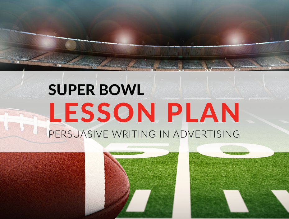 """ne Super Bowl lesson plan that has always been a winner is a lesson on """"Persuasive Writing Techniques in Advertising."""" I created this Super Bowl lesson plan for grade 5 students, but you can adapt it for other grade levels! super-bowl-lesson-plan-teaching-advertising-to-primary-students-persuasive-writing-lesson.png"""