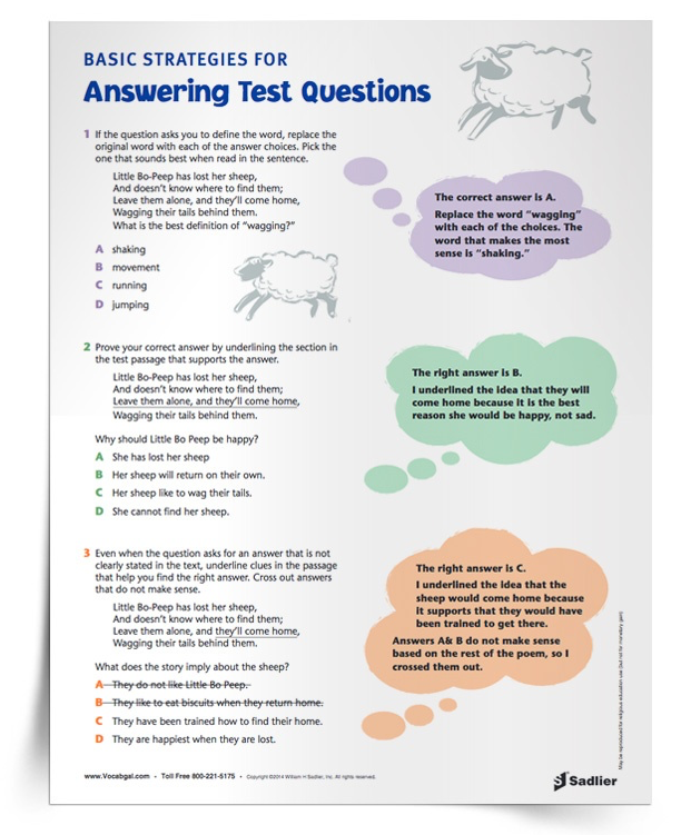 In this article, you'll explore the benefits and rationale for teaching and reviewing vocabulary strategies as part of high-stakes test preparation! Specialists, instructional coaches, and school principals will gain insights and printable resources to support teachers in their test preparation efforts. test-taking-strategies-for-elementary-students-multiple-choice-strategies
