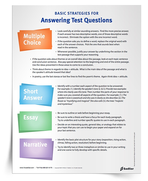 3 Test-Taking Strategies for Elementary Students (Includes