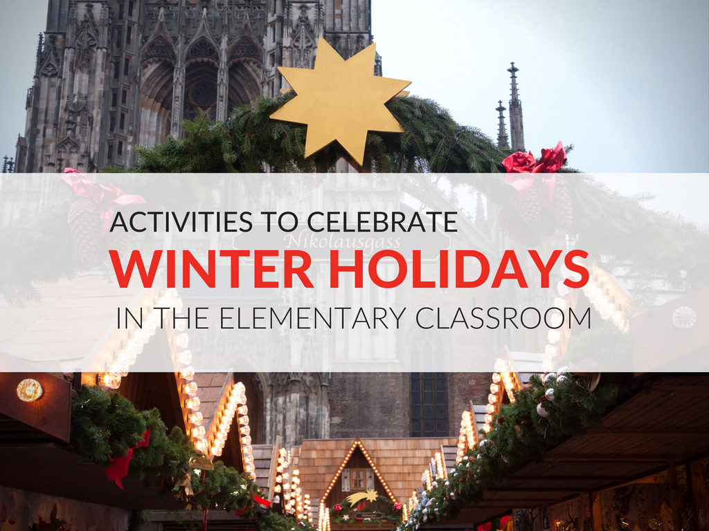 """With the resources in this article, elementary students will learn about various holiday celebrations around the world. The five celebrations the """"Winter Holidays Around the World"""" lesson plans feature are Hanukkah, Christmas, Saint Lucia Day, Kwanzaa, and Saint Nicholas Day. winter-holidays-around-the-world-lesson-plan-winter-holiday-activities-elementary.png"""