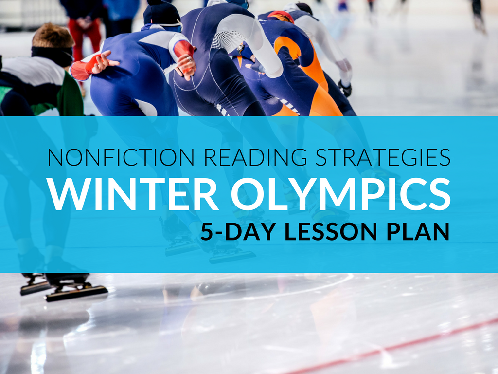 Using the following lessons teachers will help students construct meaning out of nonfiction texts. To assist teachers in implementing the nonfiction reading strategy lessons below, I've compiled all of the Winter Olympic lesson plan resources into a free downloadable kit. This kit includes a week's worth of nonfiction reading strategies, instructional plans, reading material suggestions, and graphic organizers that coincide with each lesson.