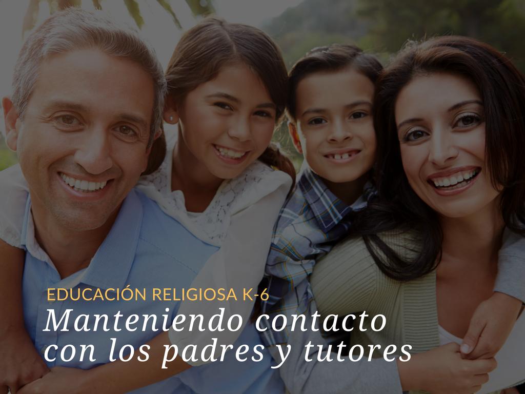 Mantener los canales de comunicación abiertos con los padres de los niños en su programa de Educación Religiosa K-6 ayudará a que las familias sean sus socias en la catequesis. Siga leyendo para obtener sugerencias útiles para mantener contacto con los padres y tutores de los niños en su programa.