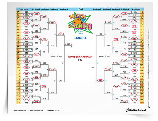 Download the March Madness Math Worksheets now!
