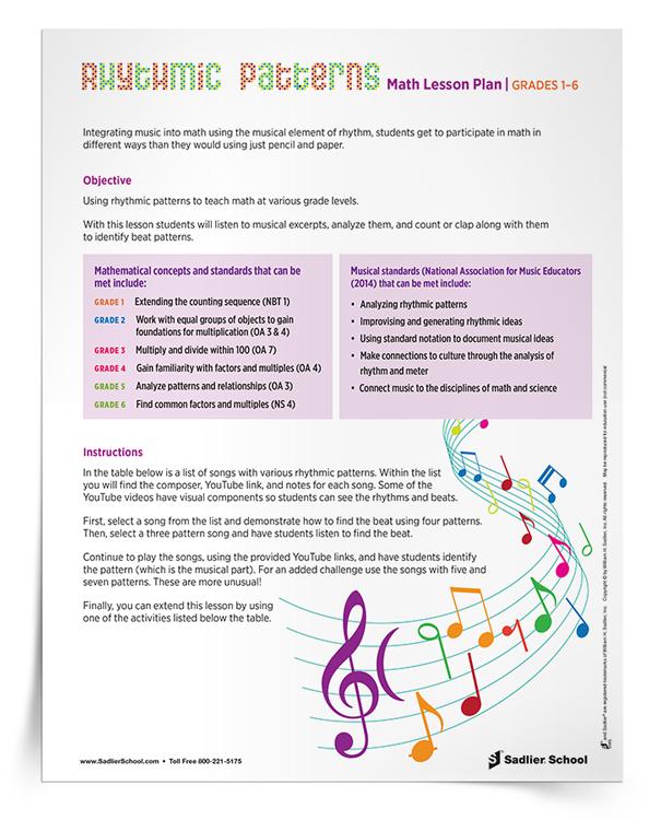 Music Lesson Plan | Fun Music And Math Lesson Plan For Grades 1 6