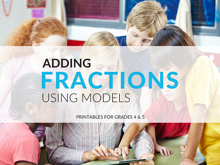 This post and its related FREE download provide you with materials to help your students with visual representation of adding fractions using models, such as number lines and fraction strips.