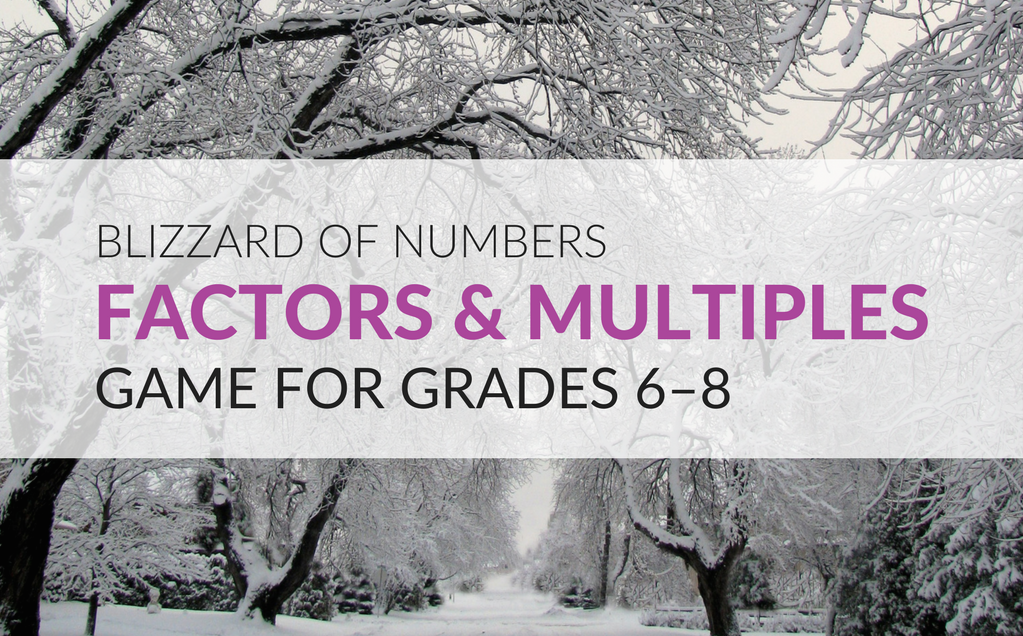 Get students excited about reviewing factors and multiples with the Blizzard of Numbers Math Game. The objective of this game is for students to identify the numbers in the snowflakes that answers the question on the card. This game can be played by individual students or in groups of two to four players.