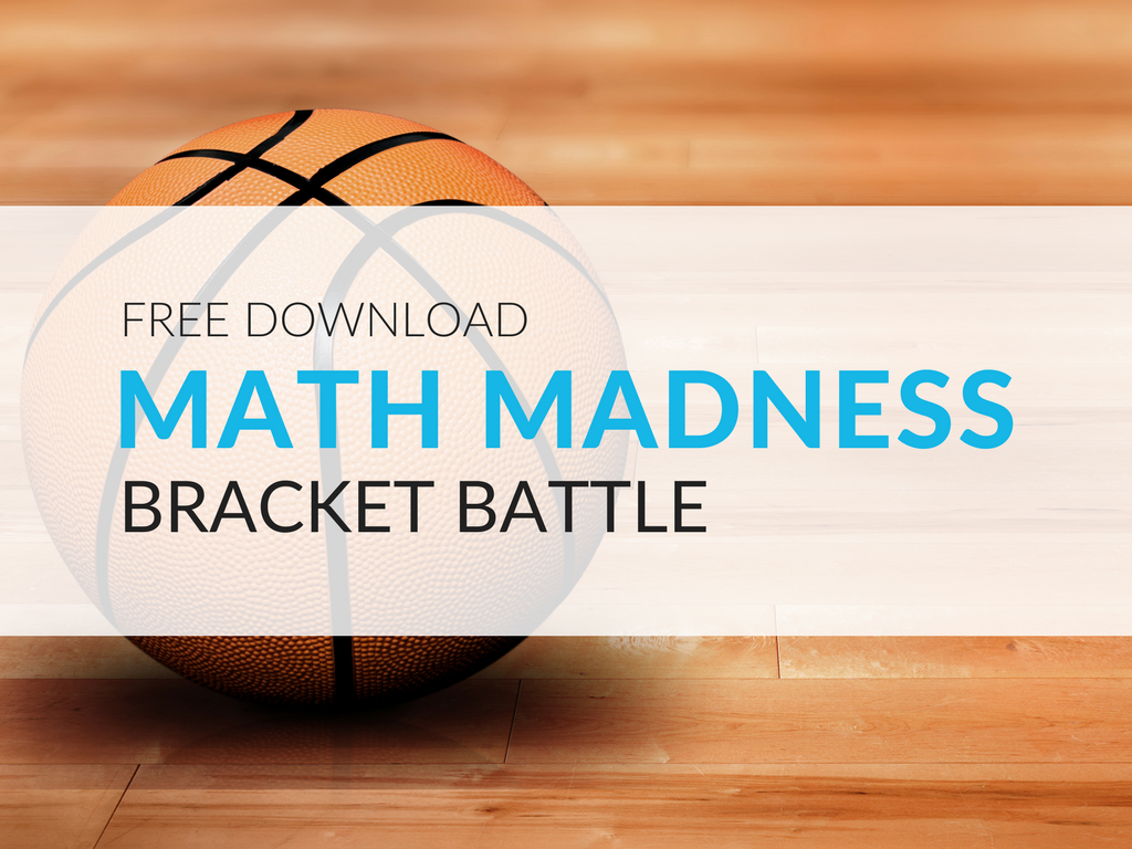 Let students get in on the bracket battle fun with this March Madness math game! Students will use knowledge of place value to compare numbers, and with a bit of luck hopefully advance to the final round of the Math Madness Bracket Battle. march-madness-math-worksheets.png