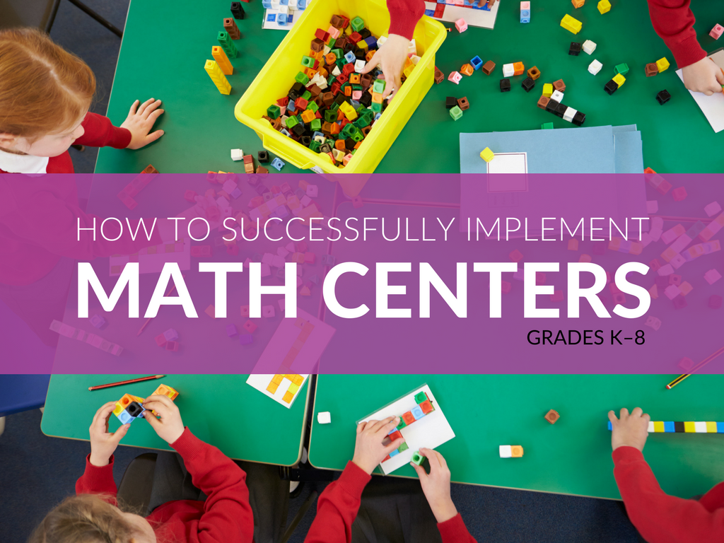 If you have never used math centers or rotations in your classroom, it is probably going to take a while to build the routines and get yourself adjusted to them. I would encourage you to push through the challenges so that you can add this powerful modality of teaching to your repertoire. Check out these 7 Math Center ideas that can be used in the classroom. Plus, free printable Math Center activities!