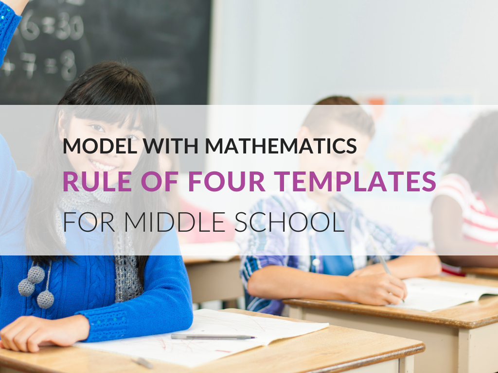 This post looks at a Rule of Four Template and how teachers can use it to help students model with mathematics at the middle school level.
