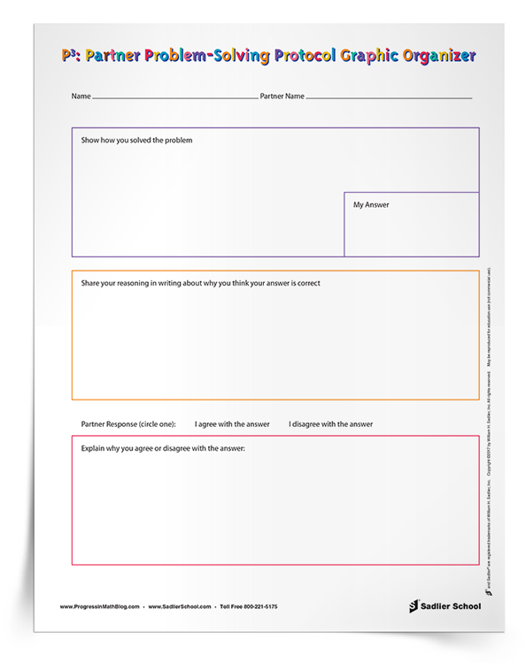 Math Graphic Organizer #2– Partner Problem-Solving Protocol