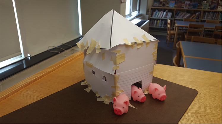 With the Three Little Pigs STEAM Activity students will engage in Science, Technology, Engineering, Arts, and Mathematics activities that also connect to reading. Students will team up to build houses for the Three Little Pigs out of index cards and masking tape. After subjecting the constructed houses to a wind test, teams will have the opportunity to reinforce their structures before a second wind test! Download the STEAM lesson plan template to get started. steam-stem-lesson-plan-template-model