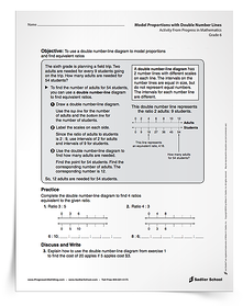 More activities for students who finish early! Download the Double Number Lines Activity now.