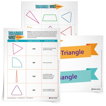 More activities for students who finish early! Download the Triangle Sort activity now.