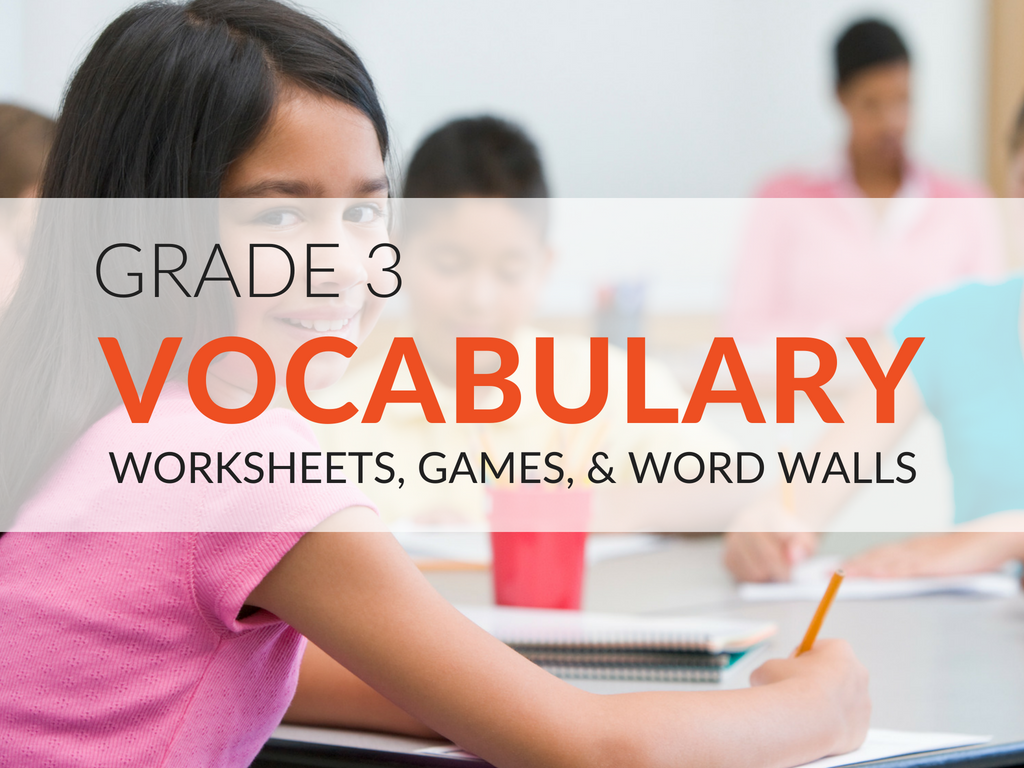 3rd grade vocabulary worksheets and printables that will make the word building process more exciting for students! These free vocabulary resources will ensure students have fun while they work to acquire new language arts skills.