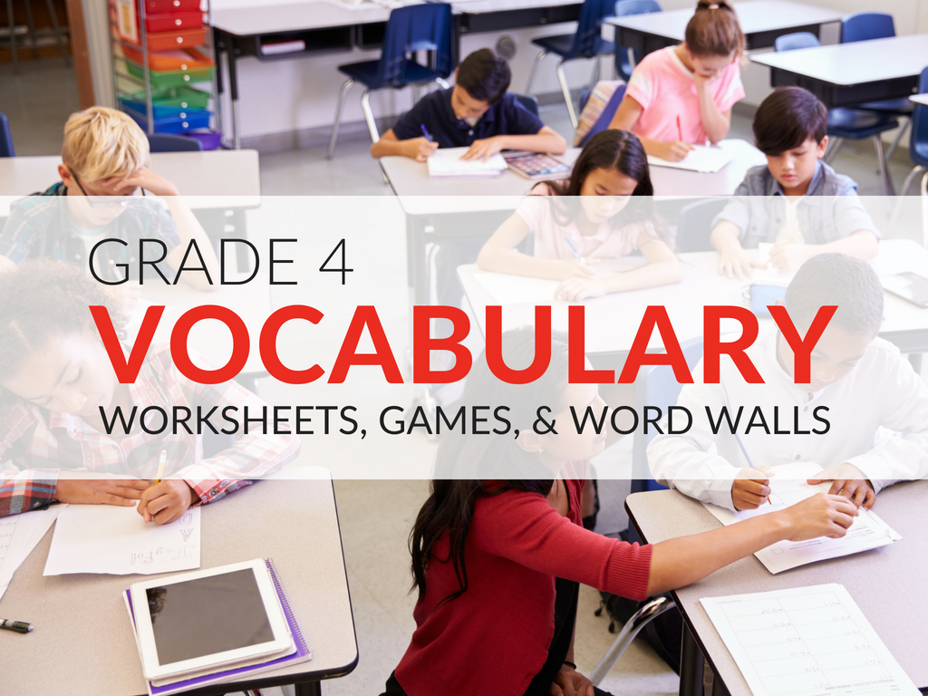 In this article you'll find 4th grade vocabulary worksheets, games, and activities that will make the word building process more exciting for students!