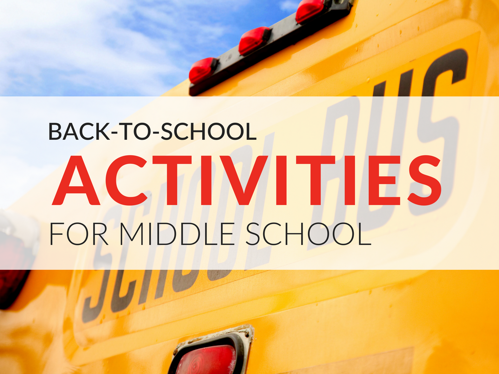 In this article, you'll find fun back-to-school activities for middle school students and free printable downloads!