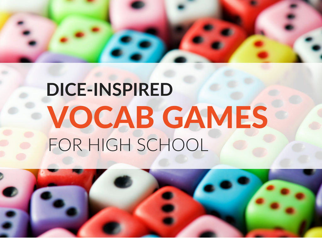 I firmly believe you cannot have enough vocabulary games for high school students. Having a stockpile of vocab games will come to your aid numerous times throughout the year. Here are two dice-inspired vocabulary games for high school students!