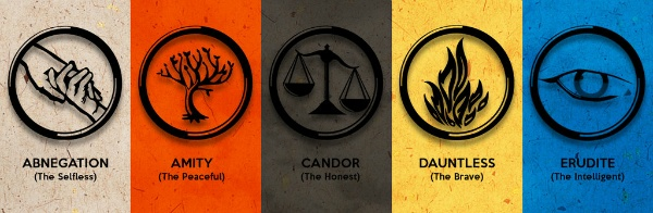 This book series is awesome because it promotes great language; it is set in a future world where people are divided into factions- and each faction title is a highly sophisticated vocabulary word!