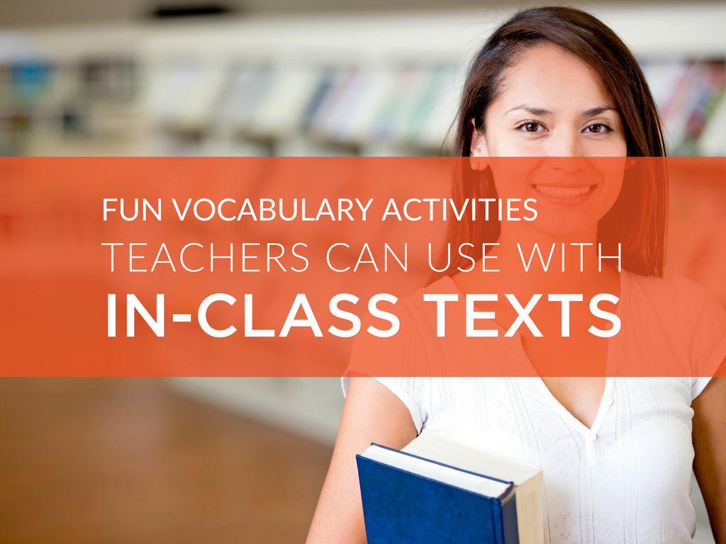 Make it a priority to integrate vocabulary into every aspect of your English class. I really enjoy having students use their vocabulary to discuss the text(s) we are studying in class. Here are a few of my favorite vocabulary activities that can be applied to contextual analysis.
