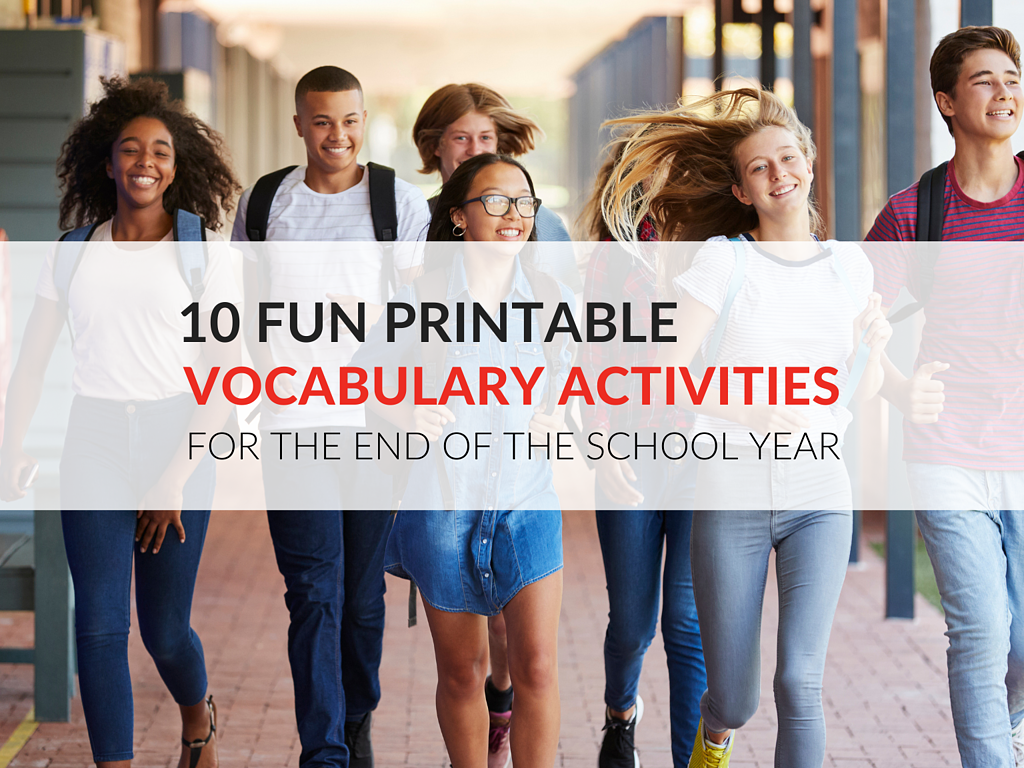 Ten fun vocabulary activities and games that will keep students learning until the end. For teachers, specialists and administrators, these gems provide opportunities to keep learning even in the midst of goofy schedules, humid temperatures and even a recalcitrant student or two.