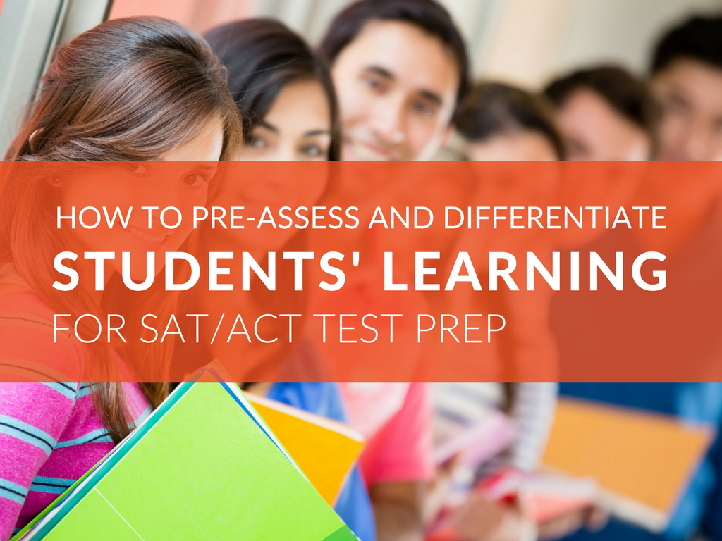 After 13+ years teaching high school English, I've concluded that ACT and SAT test-taking strategies are more successful when educators make pre-assessments and differentiated learning a priority! Pre-assessment and customized learning are critical for students to be successful. Learn how to pre-assess students' word knowledge and implement differentiated instruction to help students expand their vocabulary and cultivate skills that contribute to success on the SAT® and ACT® exams.