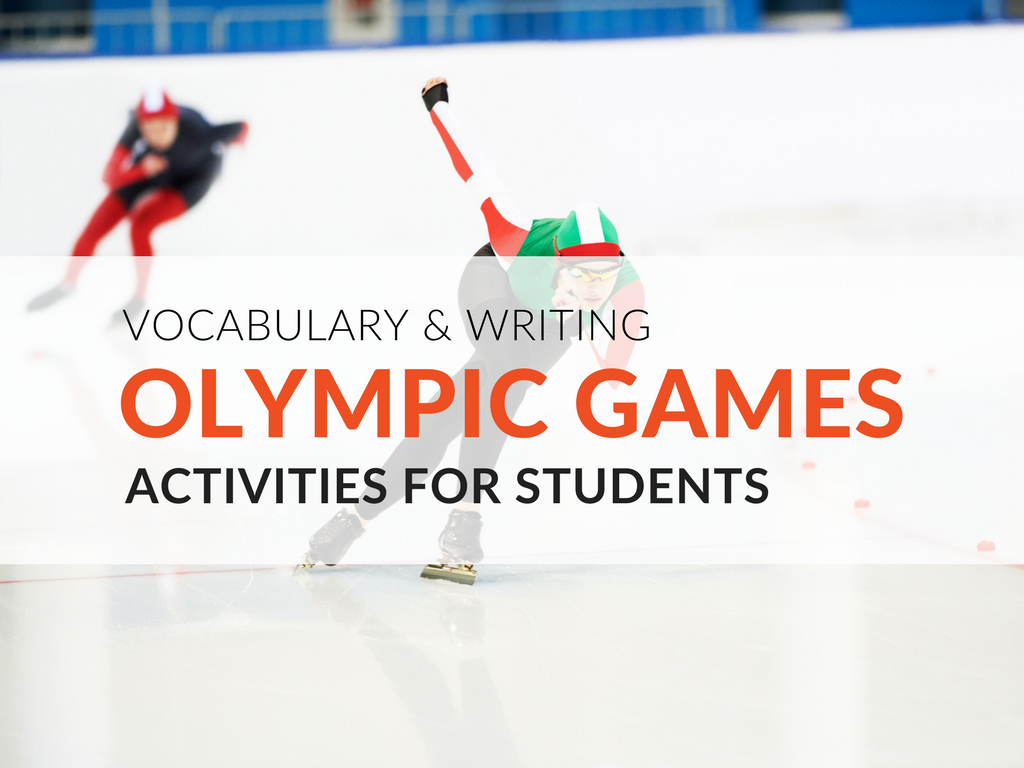Engage students in writing about the XXIII Olympic Winter Games using their vocabulary and language skills with two free vocabulary Olympic activities AND a free Olympic lesson plan. With the XXIII Olympic Winter Games approaching, I was inspired to make a connection with my students. Today I'm sharing the Olympic activities for students I've created to learn or review vocabulary words.