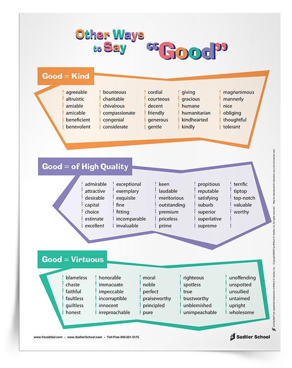 The Other Ways to Say... Posters are also incredibly important back-to-school resources. I print them out onto cardstock, tape them together, and then hang them down my wall. As students walk into the classroom, they can immediately see my passion for words. More importantly, students will learn alternatives for the overused words and a resource to reference during writing assignments.