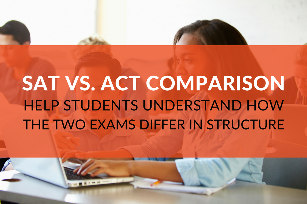 SAT vs. ACT Comparison! Before providing skills instruction on what is assessed on the SAT and ACT exams, help students understand how the two tests differ.