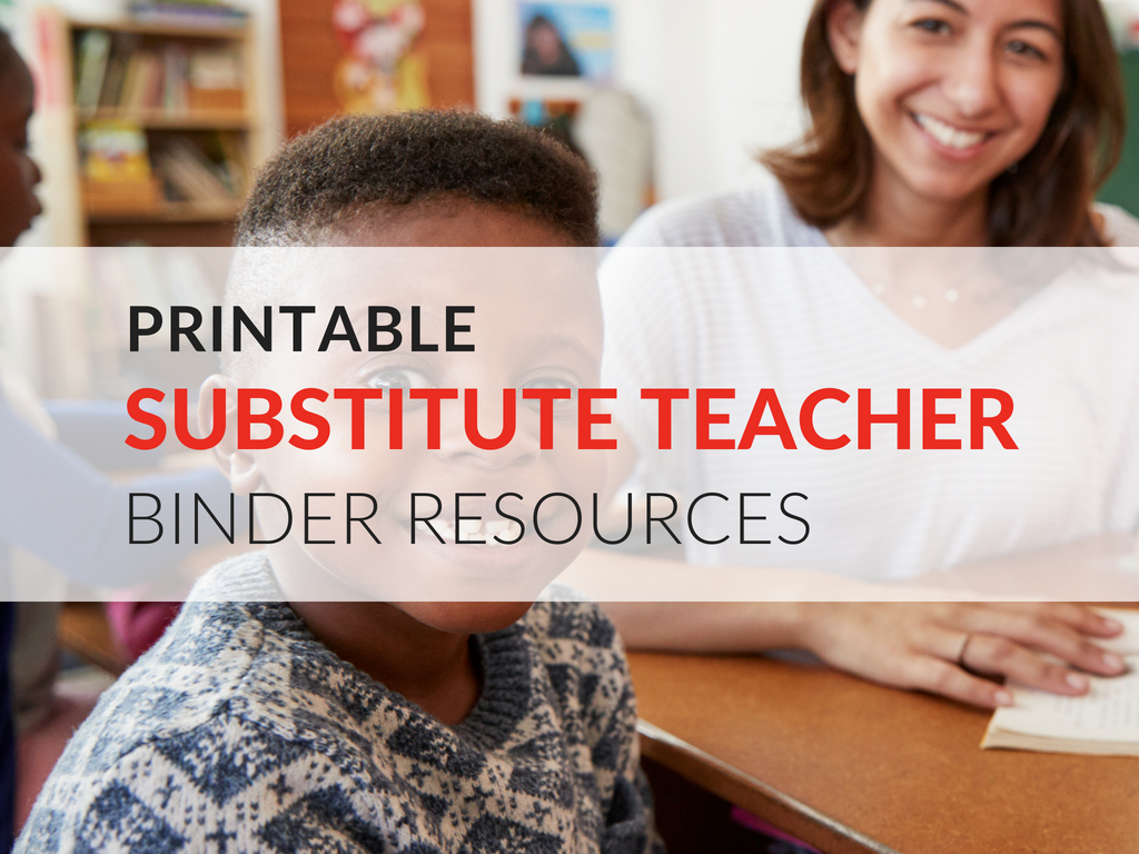 I've created free printable substitute teacher binder resources.