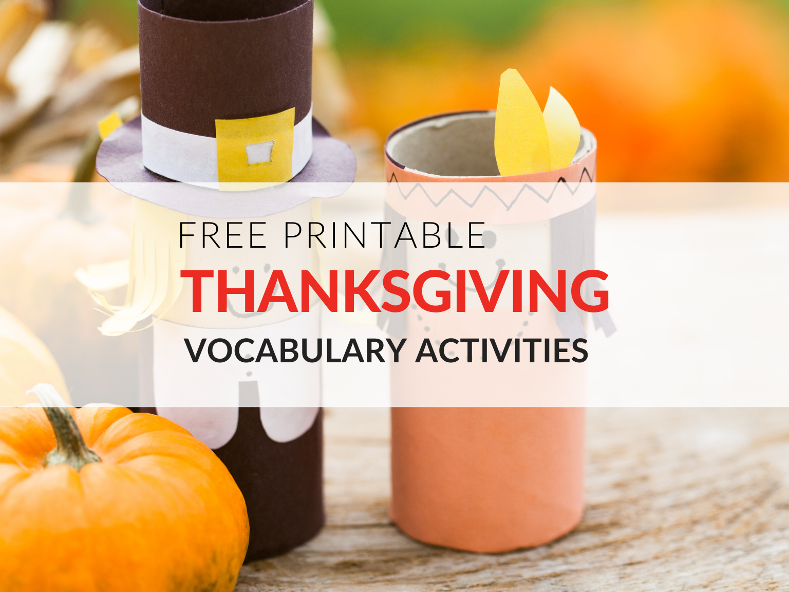 Celebrate the Thanksgiving season in the classroom with vocabulary words! Like most holidays, the festivities surrounding Thanksgiving give teachers an opportunity to add excitement to routine classroom assignments. Use these free Thanksgiving vocabulary printables to engage and inspire your students.