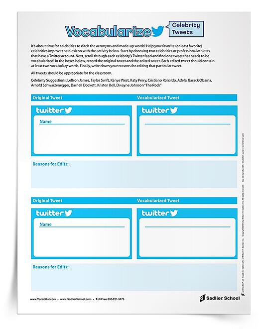 3 Vocabulary Practice Worksheets for Digitally Savvy Students